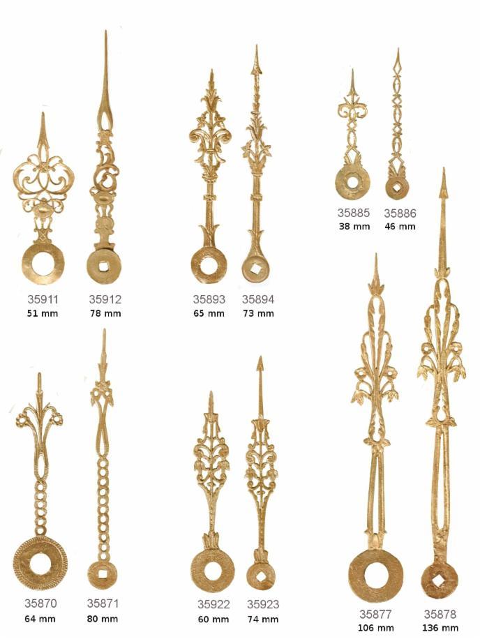 Uhren-Zeiger - Antike Beschläge, Möbelbeschläge, antike Uhren und ...